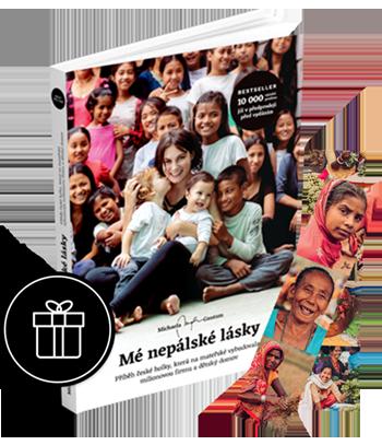 Kniha: Mé nepálské lásky, 2 záložky, dárek
